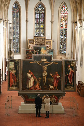 Isenheim Altarpiece - View of the Isenheim Altarpiece, Nikolaus Hagenauer and Matthias Grünewald, c 1512–1516