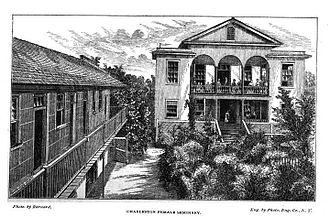 Charleston Female Seminary - Charleston Female Seminary at its Philip Street location