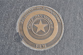 Chief Dan George - Dan George's B.C. Entertainment Hall of Fame star on Granville Street, Vancouver, BC