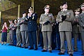 Chief of Staff of the U.S. Army Gen. Raymond T. Odierno, center left, Italian Army Chief of Staff Lt. Gen. Claudio Graziano, center right, and Italian Army officers applaud after a display of cavalry maneuvers 130502-A-AO884-500.jpg
