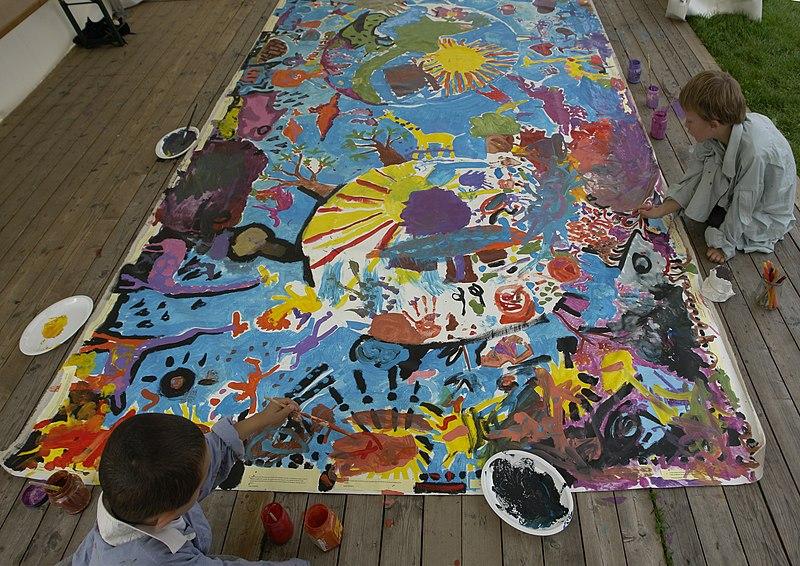 File:Children painting.jpg