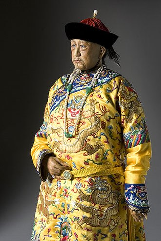 Qianlong Emperor - A likeness of Qianlong by artist and historian George S. Stuart from historical records.