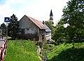 Chlumec, Krušnohorská, Chlumecký potok, Martínkovna a kostel svatého Havla (01).jpg