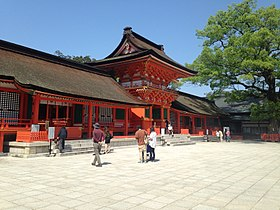 Chokushimon Gate in Upper Shrine of Usa Shrine 2.jpg