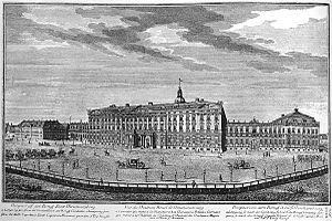 Den Danske Vitruvius - The first Christiansborg before it was ruined by a fire in 1794