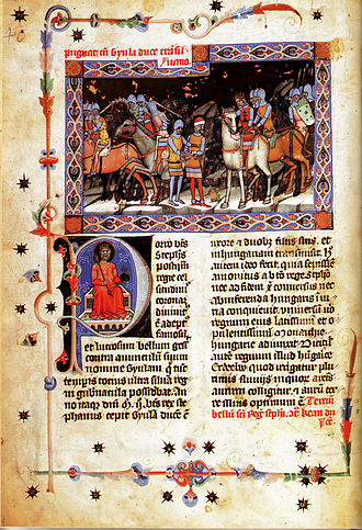 Gyula (title) - King St. Stephen captures Gyula (Chronicon Pictum)