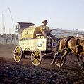 Chuckwagon race at the Calgary Stampede (27708775823).jpg