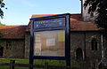 Church of St Andrew, Good Easter, Essex, England - sign board.JPG