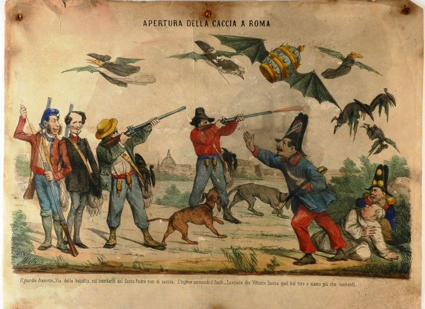 Cimeli caccia a Roma post1860