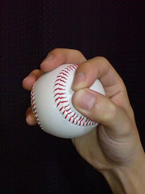 Circle changeup - The grip used for a circle changeup