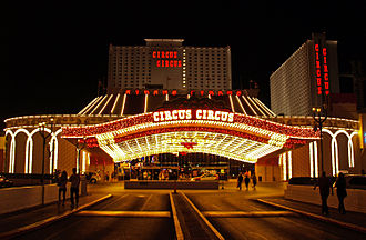Circus Circus Las Vegas - Circus Circus Las Vegas at night in 2008