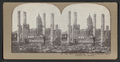 City Hall, Photographer in foreground. Tall brick chimneys left standing, from Robert N. Dennis collection of stereoscopic views.png