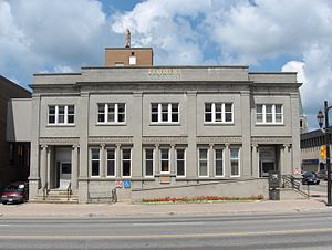 Timmins - City Hall Engineering Building, formerly the main public library, previously the post office