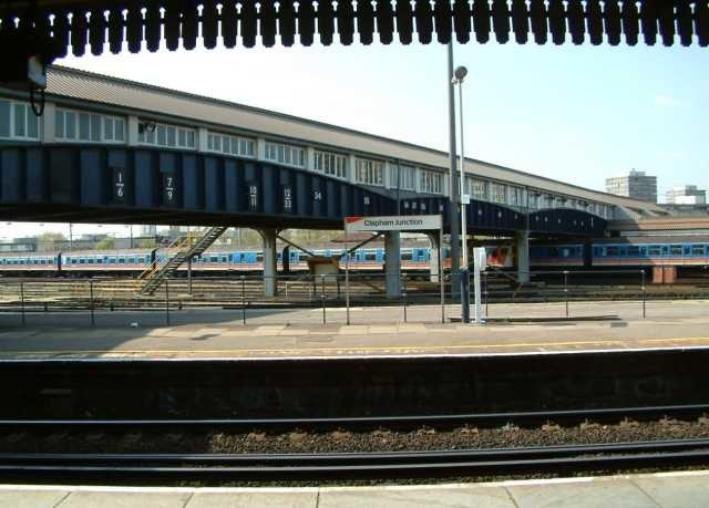 Clapham Junction Railway Station - The Footbridge - London - 240404