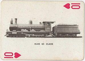South African Class 6C 4-6-0 - Image: Class 6C 544 (4 6 0) CSAR 349 Playing Cards