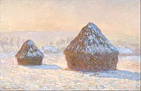 Claude Monet (French - Wheatstacks, Snow Effect, Morning - Google Art Project.jpg