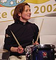 Claudia Pechstein on drums with Acoustica at Thuringen house (102506575).jpg