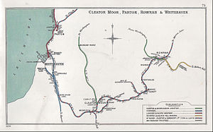 Cleator Moor West railway station - Image: Cleator Moor, Parton, Rowrah & Whitehaven RJD 075