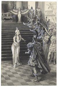 Cleopatra greets Antony.jpg