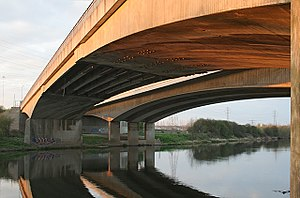 A52 road - Clifton Bridges over the Trent