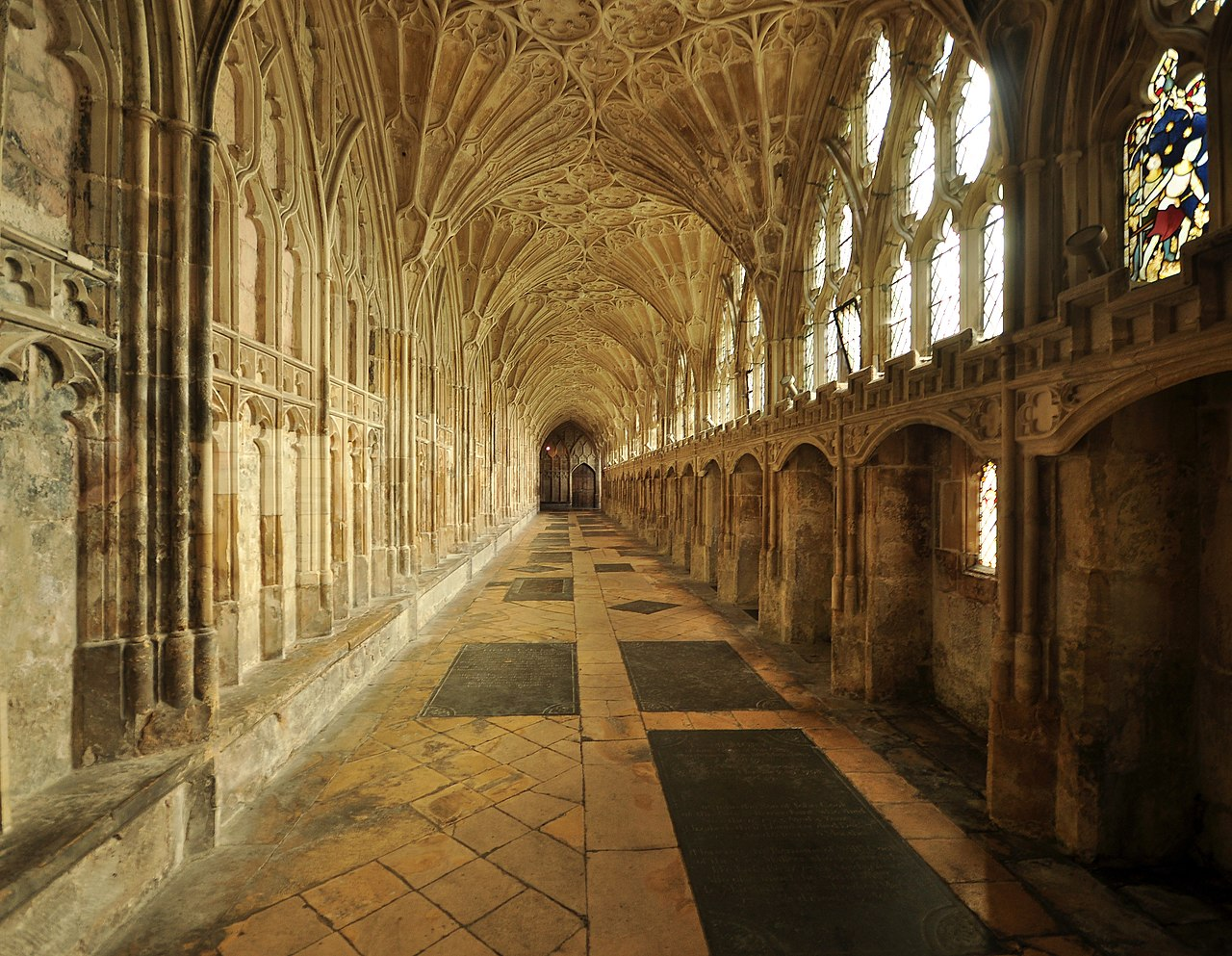 File Cloister Gloucester Cathedral 2 Jpg Wikimedia Commons