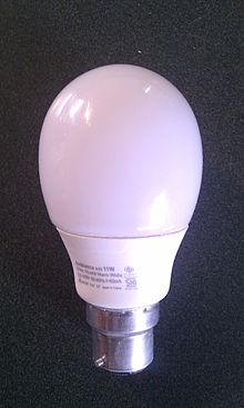 An encapsulated/closed (double envelope) CFL & Fluorescent lamps and health - Wikipedia