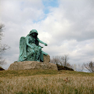 Clotho - Statue in Druid Ridge Cemetery that represents the Greek fate Clotho