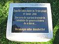 Cluj-Napoca-Piata Ștefan cel Mare,in parc-placa comemorativa-IMG 8848.jpg