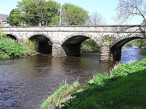 Coagh - The bridge in Coagh which crosses the Ballinderry river; on the left is County Londonderry; on the right is County Tyrone