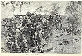 18th Georgia Volunteer Infantry - Cobb's and Kershaw's troops behind the stone wall