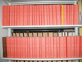Code of Federal Regulations - A few volumes of the CFR at a law library (titles 12–26).