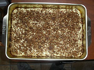 A coffee cake fresh out of the oven!.