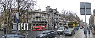 College Green, Dublin - College Green south side from the corner of the Bank of Ireland old building