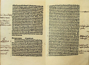 The Travels of Marco Polo - Handwritten notes by Christopher Columbus on the Latin edition of Marco Polo's Le livre des merveilles.