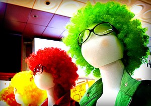 Pimpshop® mannequins with colourful wigs