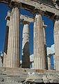 Columnes de la façada est del Partenó.JPG