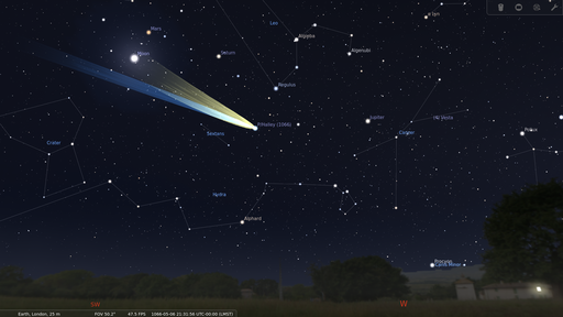 Comet Halley from London on 1066-05-06