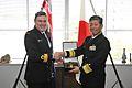 Commodore John Martin, RNZN and Vice Admiral Yasushi Matsushita, JMSDF in 2012.JPG