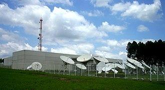 COMSAT - Outside view of COMSAT facilities and antenna farm near Campinas, São Paulo, Brazil