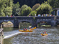 Congestion at the weir, Brantome, France.jpg