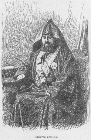 Armenian Patriarch of Constantinople - The Armenian Patriarch of Constantinople in 1878.