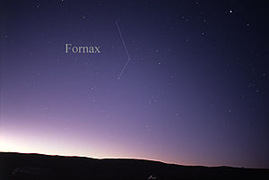 Fornax - The constellation Fornax as it can be seen by the naked eye.