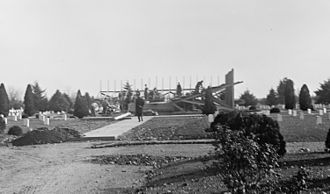 Confederate Memorial (Arlington National Cemetery) - Construction of the foundations for the Confederate Memorial in 1912.
