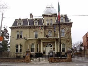 Beverley Street - Consulate General of Italy located on Beverley Street at the corner of Dundas Street West.