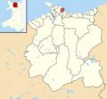 Conwy County Borough UK electoral wards - Llandrillo-yn-Rhos locator.png