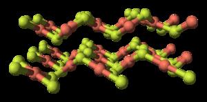 Copper(II) fluoride - Image: Copper(II) fluoride layers 3D balls
