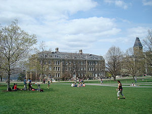 Morrill Hall (Cornell University) - The eastern face of Morrill Hall