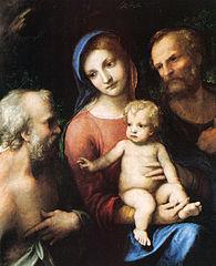 Sainte Famille et saint Jérôme