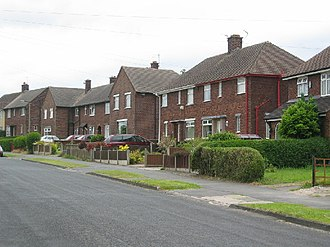Right to Buy - Council-type housing stock in Weaverham, now mostly owner-occupied