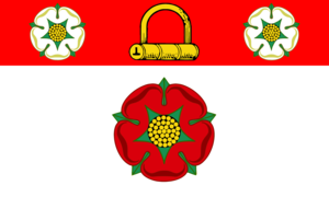 The County Flag of Northamptonshire, a banner ...